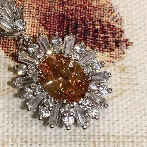 Jewelry - Morganite and white sapphire pendant